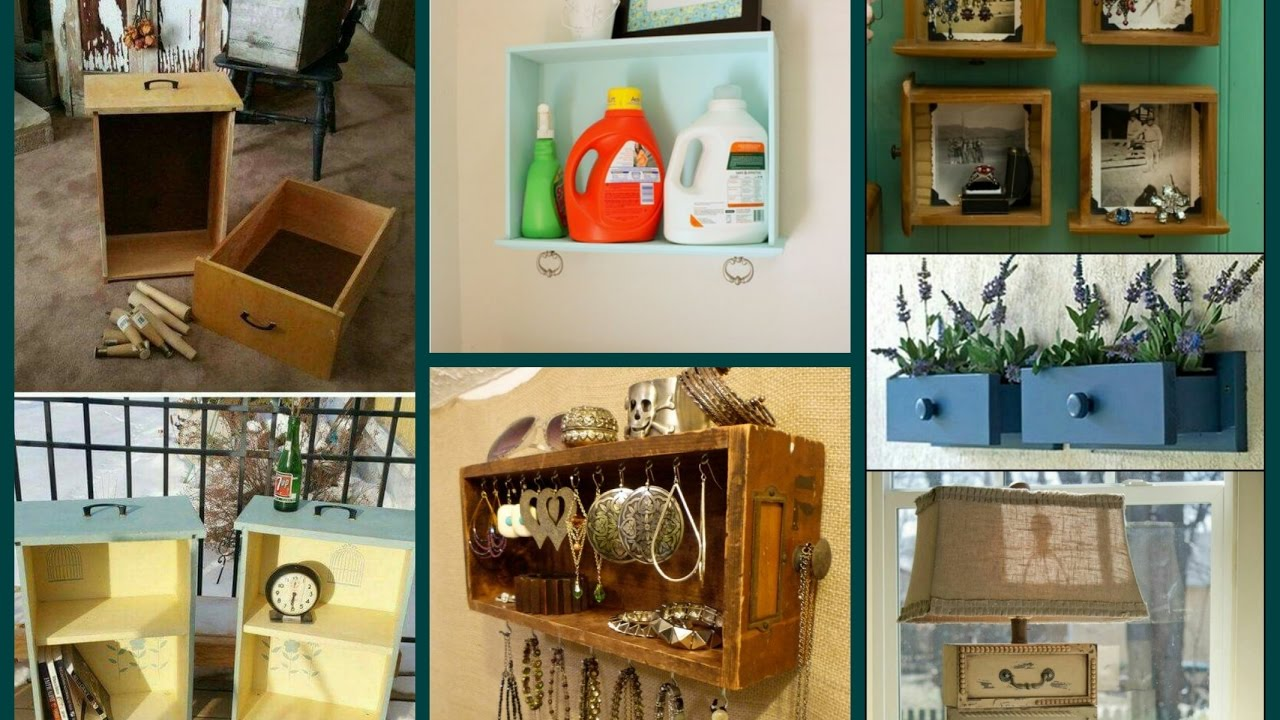 Diy Repurposed Old Drawer Ideas Recycled Home Decor