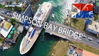 Simpson Bay Bridge ~ Sint Maarten ~ Motor Yacht Turmoil ~ Best UAV Drone ~ WeBeYachting.com