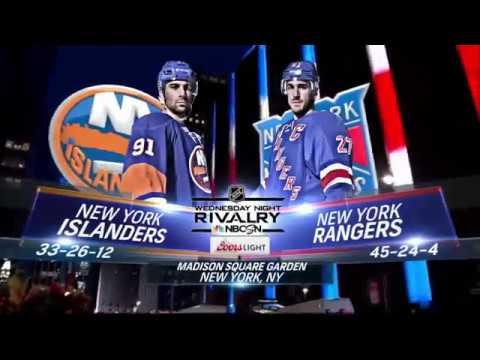 March 22 2017 Islanders at Rangers NBCSN