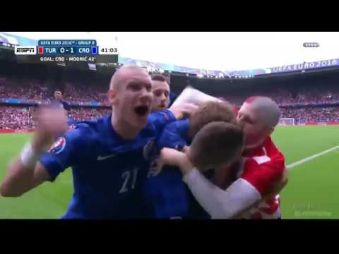 Croatian Football Fan Runs On The Field To Hug A Little