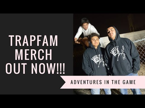 TRAPFAM MERCH OUT NOW! ADVENTURES IN THE MERCH GAME!
