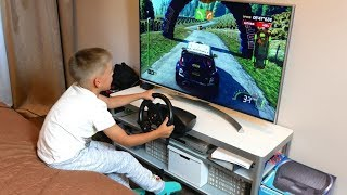 Машинки Ралли Играем с гоночным рулем Thrustmaster T80 для PS4/PS3/PC