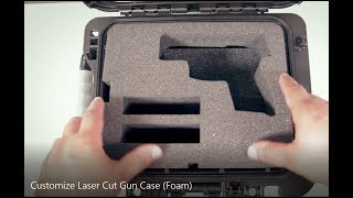 Custom CO2 Laser Cut Foam Insert for Hand Gun Case