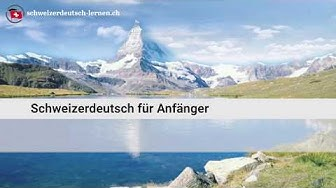 Schweizerdeutsch für Anfänger 🇨🇭Schweizerdeutsch lernen🇨🇭
