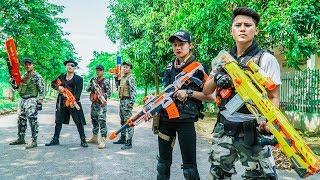 LTT Nerf War Couple SEAL X Warriors Nerf Guns Fight Dr Lee Group Hidden Assassin