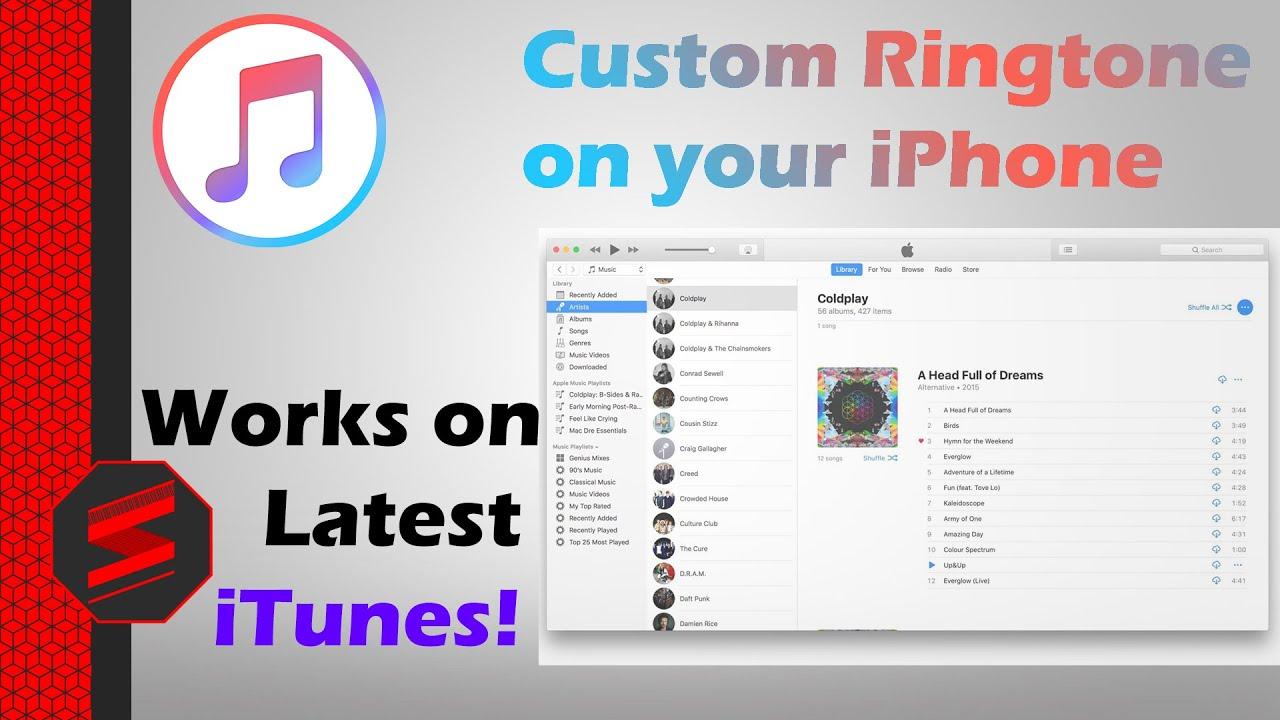 custom ringtone iphone itunes 12