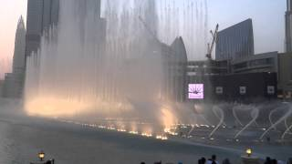 *HD* Amazing Dubai Mall Musical Fountain Show during Sunset