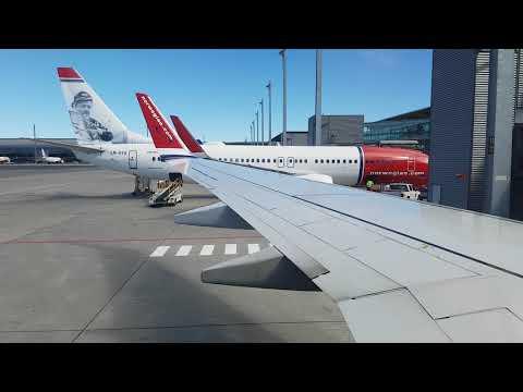 FULL FLIGHT - Oslo To Bergen Norwegian Boeing 737-800