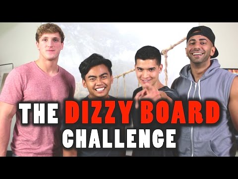 Dizzy Board Challenge ft. FouseyTube & Logan Paul