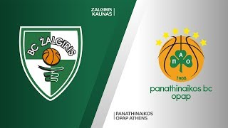 Zalgiris Kaunas - Panathinaikos OPAP Athens Highlights | Turkish Airlines EuroLeague, RS Round 9