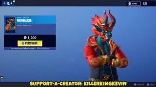 NEW FIREWALKER SKIN + DRAGON WRAP: Fortnite Item Shop