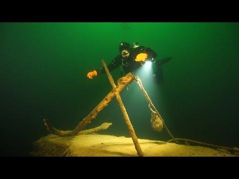 """Синявка таинственная. Дайвинг в озере Янтарном. Оно же Синявинское. Оно же карьер """"Вальтер""""."""
