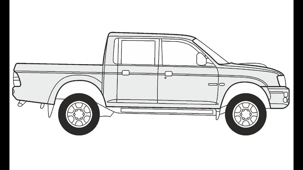 How to Draw a Mitsubishi L200 Magnum / Как нарисовать