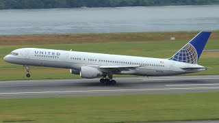 United Airlines Boeing 757-200 [N526UA] takeoff from PDX