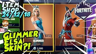 Fortnite Item Shop *NEW* GLIMMER SET! ELSA?! GAMEPLAY [December 24th, 2018] (Fortnite Battle Royale)