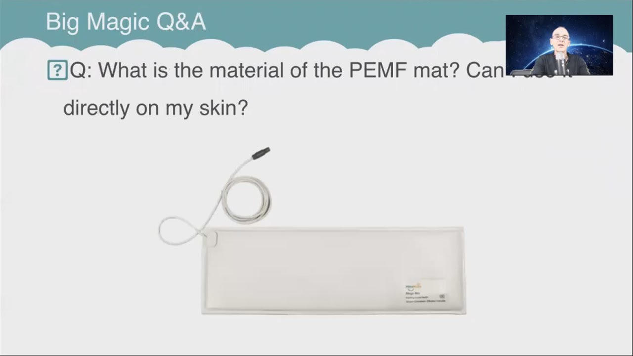 Q&A: What is the material of the PEMF mat? Can I use it directly on my skin?