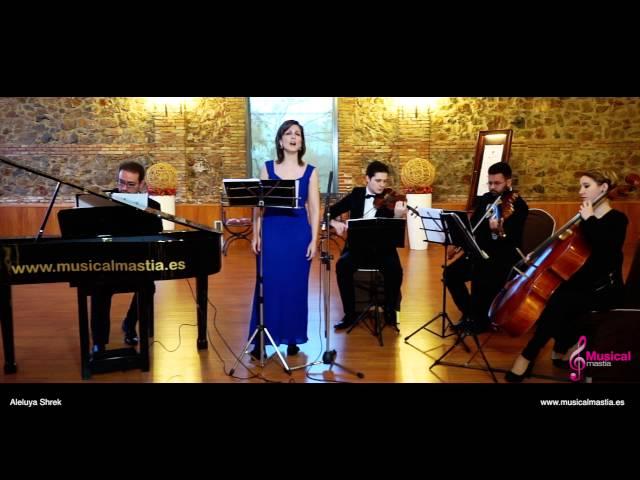 Aleluya Shrek Cohen Soprano piano y trio de cuerda Bodas Murcia Musical Mastia