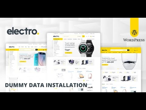 Step-3┇ Import Dummy Data ┇ Electro WooCommerce Theme ᴴᴰ - YouTube