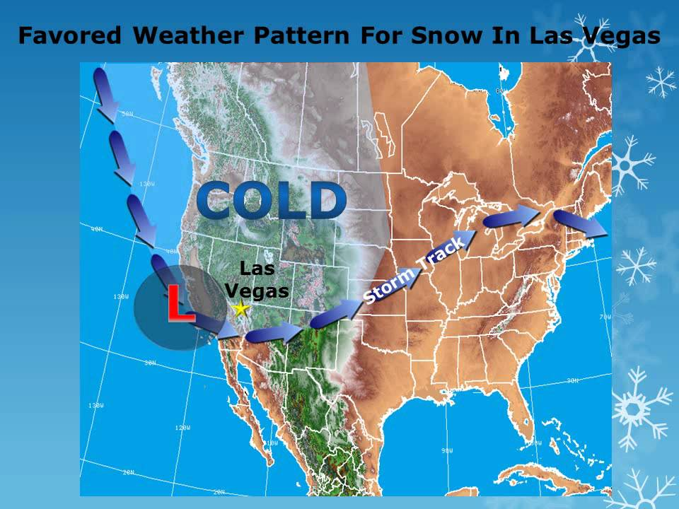 Las Vegas has a measurable amount of snow on the ground for the first time in ...