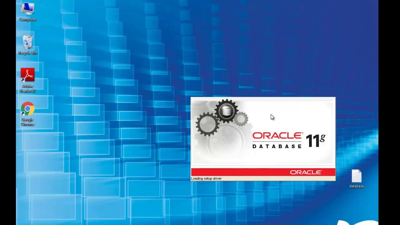 Install Oracle Database 11G R2 Enterprise Edition on Windows 7