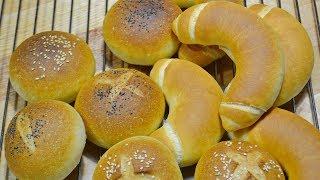 БУЛОЧКИ Постные! К чаю, к супу или для бутербродов! Buns of lean dough
