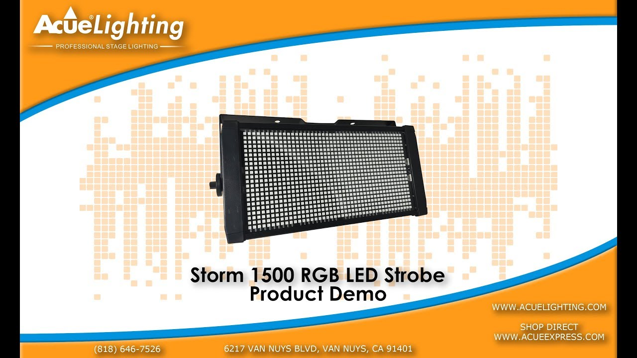 Storm 1500 RGB Strobe Light Product Demo By Acue Lighting