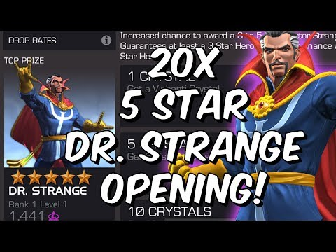 20x 5 Star Featured Dr. Strange Crystal Opening! - Marvel Contest Of Champions