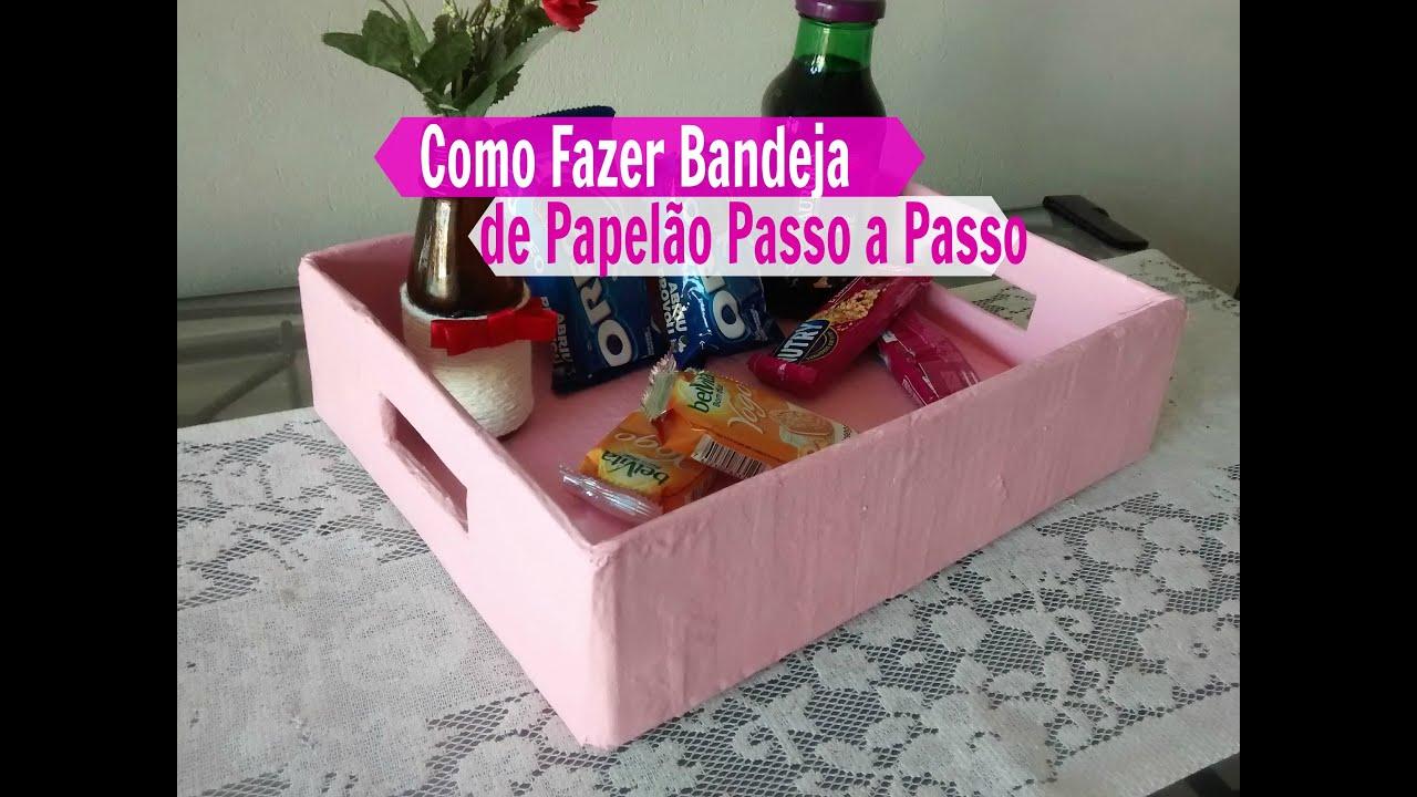 Muitas vezes DIY: COMO FAZER UMA Bandeja de Papelão / Carla Oliveira - YouTube IY85