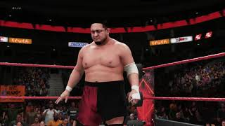 WWE 2K18 - Random Match - John Cena Vs Samoa Joe