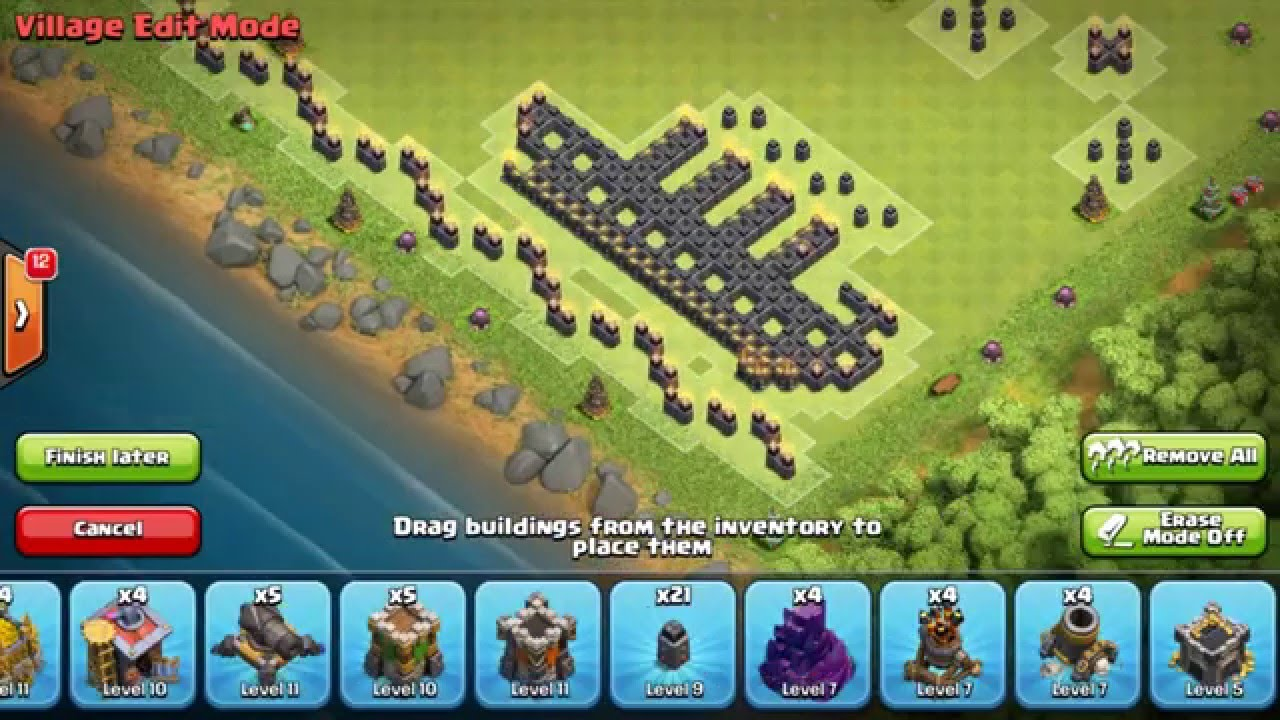 Clash Of Clans New Sea Ship Level 9 Air Defense And Level 7 Air