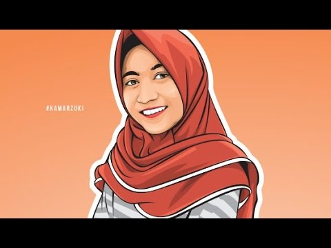 HOW TO DRAW VECTOR IN CORELDRAW | PRETTY  HIJAB GIRL | PART 1