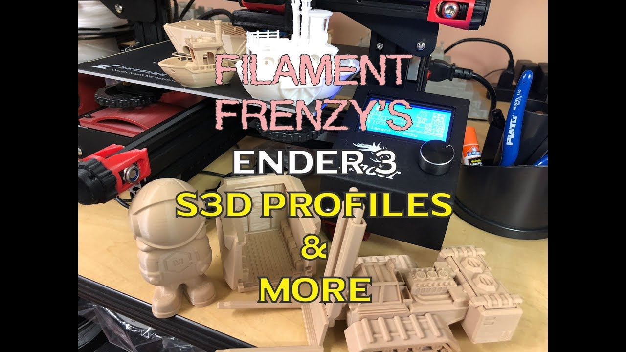 Filament Frenzy S3D ENDER 3 Profiles & More by RichterScaleStudios