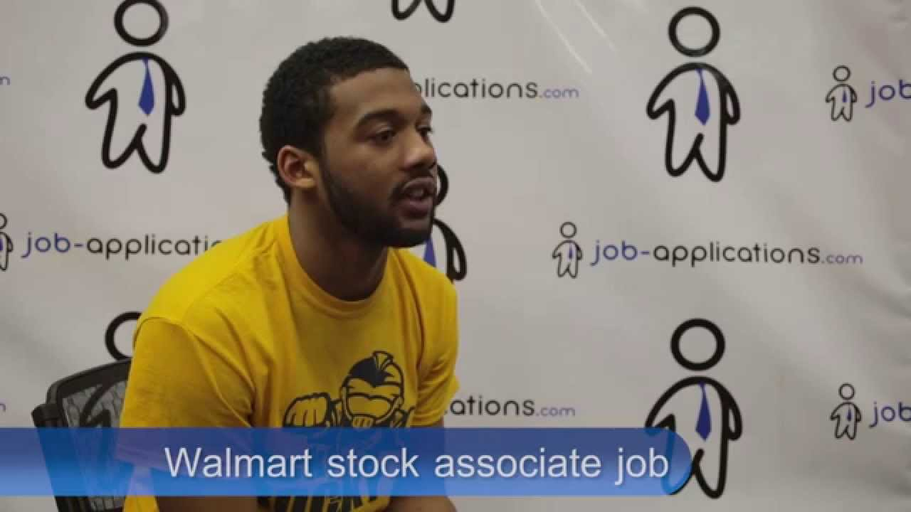walmart interview stock associate youtube - Walmart Overnight Jobs
