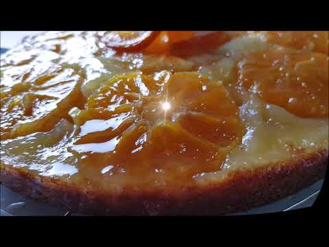 gâteau-renversé-aux-mandarines-façon-tatin🍊كيكة-المندرين-هشه-وطريه-ولذيذه