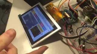 Testing raw DPI display capability on the Raspberry Pi 2, Model B and B+