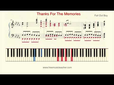 How To Play Piano: Fall Out Boy