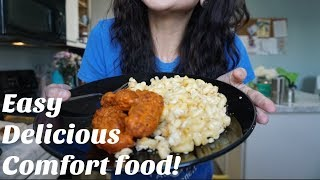 Cook with Us!| Buffalo Chicken and Mac n Cheese|Super Easy|NOT healthy! lol thumbnail