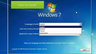 How to Install Windows 7 Step by Step on HP Laptop