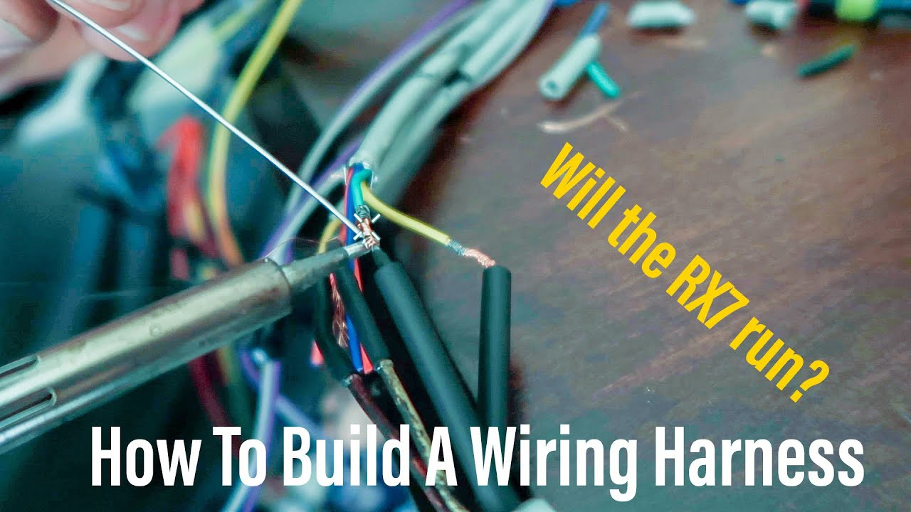 Haltech Elite Wiring Harness Build FC RX-7: Part 3 on