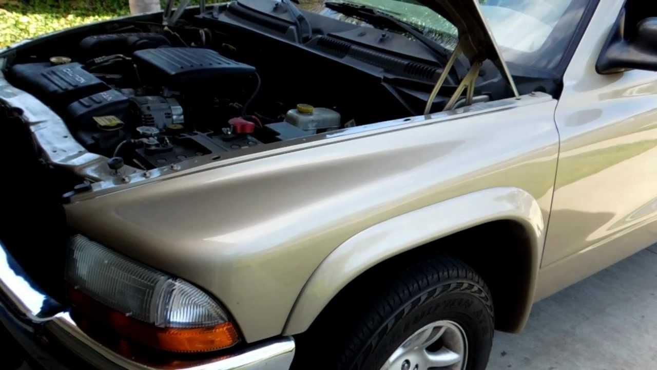 2003 Dodge Dakota 47L V8 EVAP Canister and Hoses location