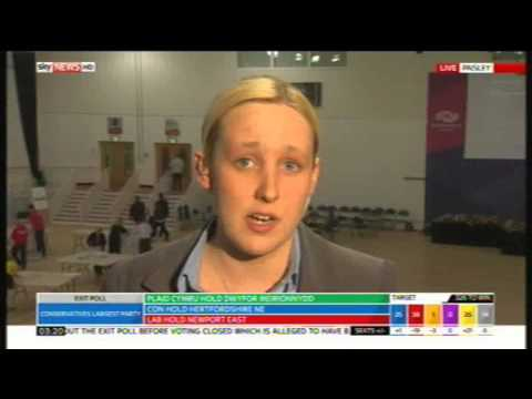 Mhairi Black SNP interview following her election win, 8th May 2015