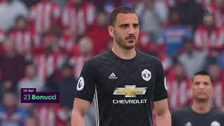 FIFA 18 Manchester United vs Stoke City