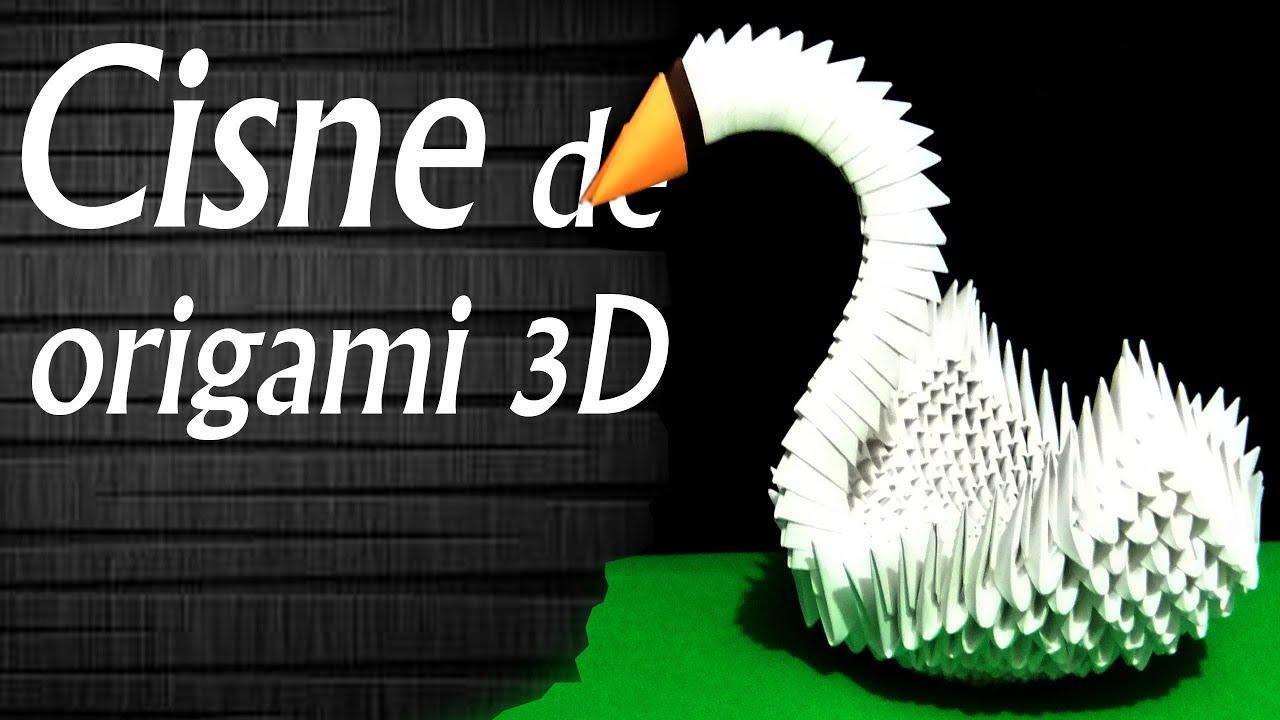 Papercraft Cisne 3D │ Origami modular