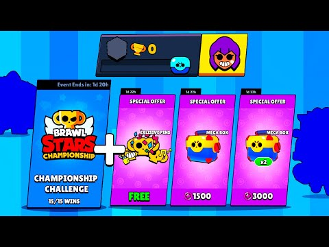 0 TROPHY Account In CHAMPIONSHIP CHALLENGE + Box Opening - Brawl Stars