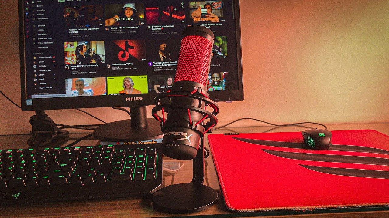 Meu MICROFONE NOVO! (Hyper X QuadCast) Review + Teste de Áudio