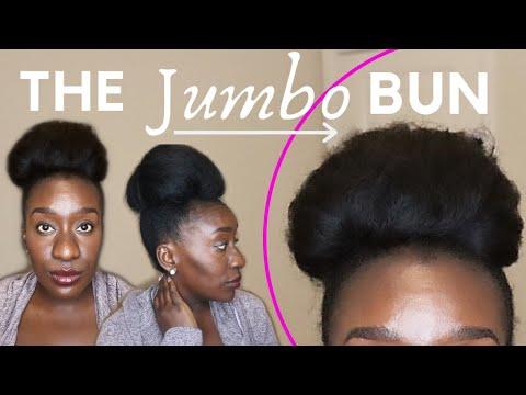 jumbo-bun-on-4c-natural-hair-using-hair-extension-wrap-ponytail