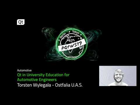 Qt in university education for automotive engineers