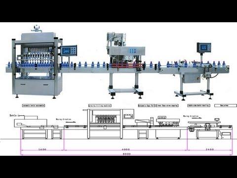 Oil bottle filling capping labeling machines キャッピングラベリングマシンを充填 Füllung-Verschließ-Etikettiermaschine