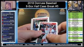 2018 Donruss Baseball Half Case Break #5