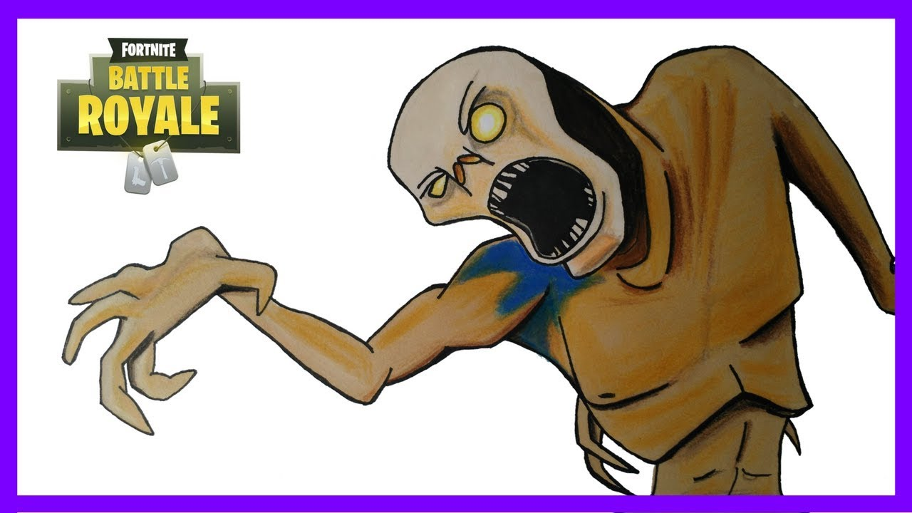 Dessiner un zombie de fortnite how to draw a zombie from fortnite dessin tv youtube - Dessin de zombie ...